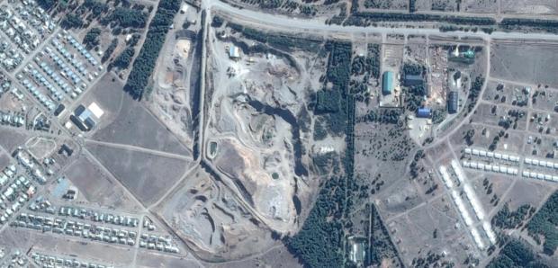 Vista satelital del vertedero municipal