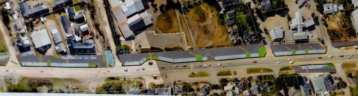 La intervención en la travesía urbana de la Ruta 40 comenzará con la instalación provisoria de nuevos pretiles, canteros vivos y señalización